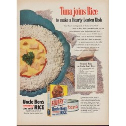 "1953 Uncle Ben's Rice Ad ""Tuna joins Rice"""