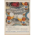 """1953 Pabst Blue Ribbon Beer Ad """"When company comes"""""""