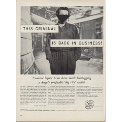 "1953 Licensed Beverage Industries Ad ""This Criminal"""