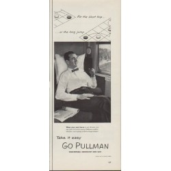 "1953 The Pullman Company Ad ""For the short hop"""