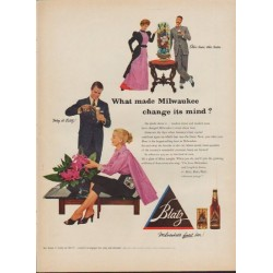 "1953 Blatz Beer Ad ""Other times"""