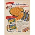 """1953 Planters Peanuts Ad """"They taste so good"""""""