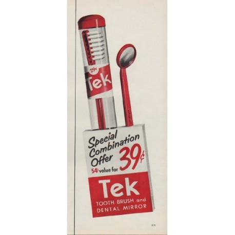 "1953 Tek Ad ""Special Combination"""