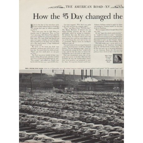 "1953 Ford Ad ""the $5 Day"""