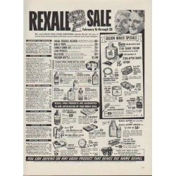 "1953 Rexall Drug Store Ad ""Golden Jubilee"""