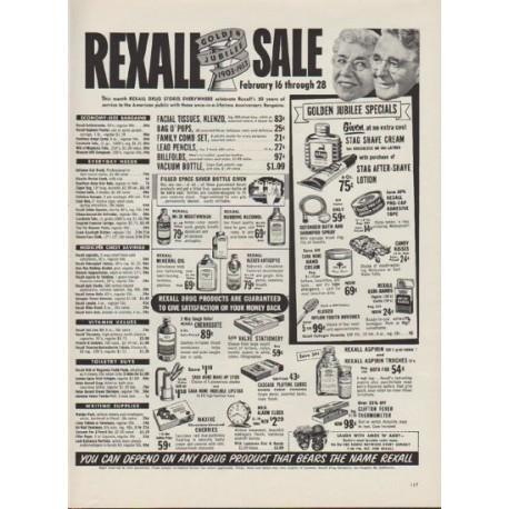 "1953 Rexall Drug Store Ad ""Golden Jubilee"""