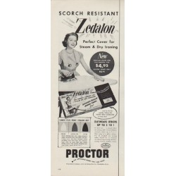 "1953 Proctor Electric Company Ad ""Zedalon"""