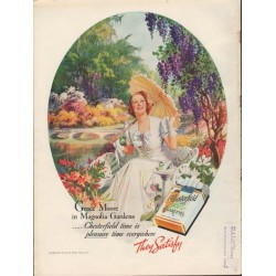 "1938 Chesterfield Cigarettes Ad ""Grace Moore"""
