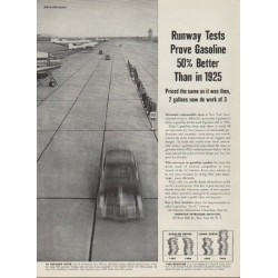 "1953 American Petroleum Institute Ad ""Runway Tests"""