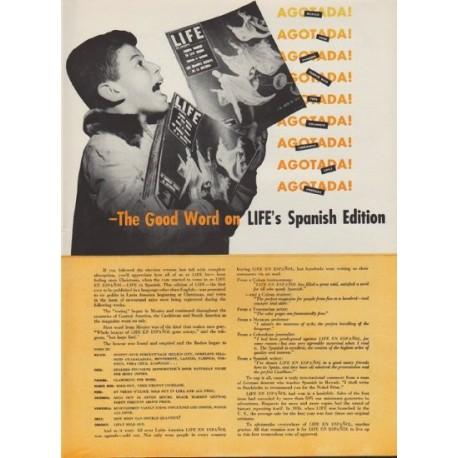 "1953 LIFE Magazine Ad ""The Good Word"""