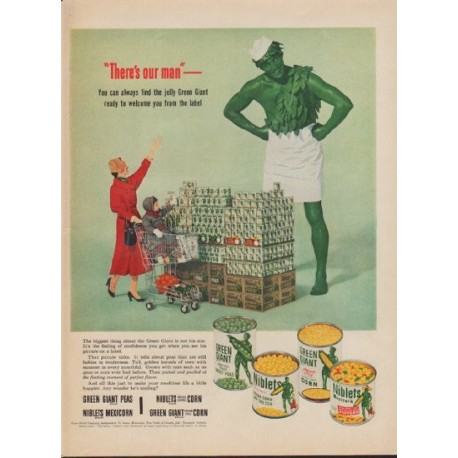 "1953 Green Giant Ad ""There's our man"""