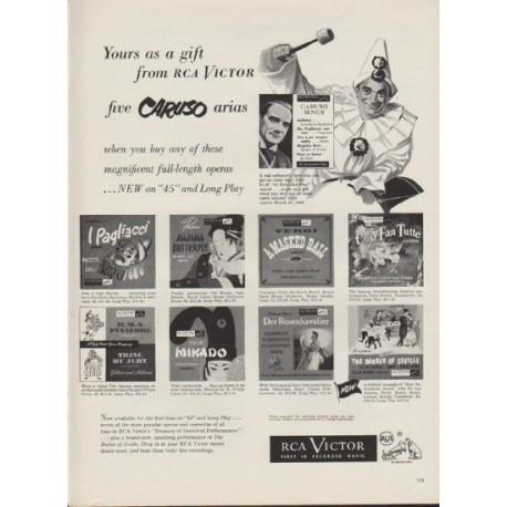 """1953 RCA Victor Ad """"five Caruso arias"""""""