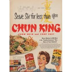 "1953 Chun King Ad ""Serve Six"""