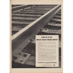 "1953 Association of American Railroads Ad ""Close-Up"""