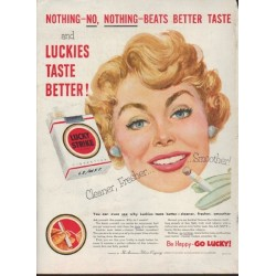 "1953 Lucky Strike Ad ""Nothing Beats Better Taste"""