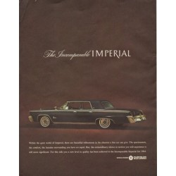 "1964 Chrysler Ad ""The Incomparable Imperial"""