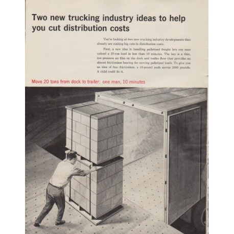 "1963 Clark Equipment Ad ""cut distribution costs"""