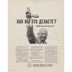 "1963 Chicago Board of Trade Ad ""How Do You Do It?"""