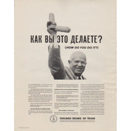 """1963 Chicago Board of Trade Ad """"How Do You Do It?"""""""