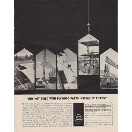 "1963 Douglas Fir Plywood Association Ad ""Plywood Parts"""