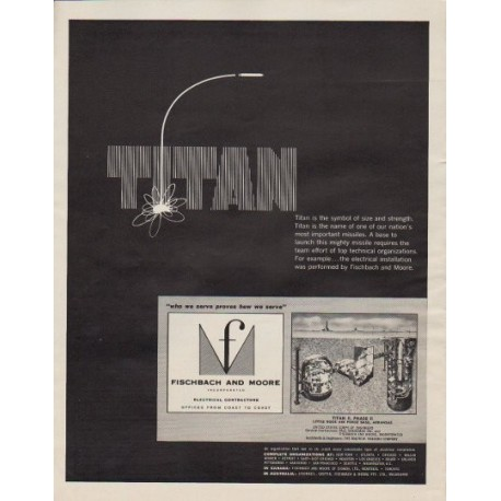 "1963 Fischbach and Moore Ad ""Titan"""