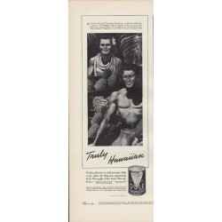 "1938 Dole Pineapple Juice Ad ""Hawaiian"""