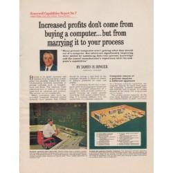 "1963 Honeywell Ad ""Increased profits"""