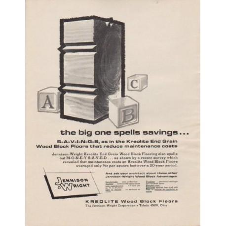 "1963 Kreolite Ad ""the big one spells savings ..."""