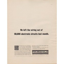 "1963 Fairchild Semiconductor Ad ""We left the wiring out"""