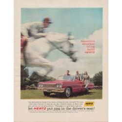 "1963 Hertz Ad ""America's smartest riding habit"""