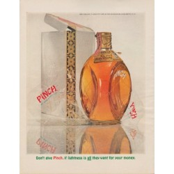 "1963 Pinch Whisky Ad ""Don't give Pinch"""
