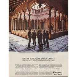 "1963 Chemical New York Ad ""Spain's Financial Inner Circle"""