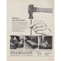 "1963 Fruehauf Corporation Ad ""Efficiency you can nail down"""