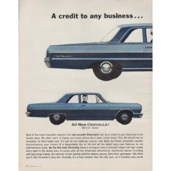 "1963 Chevrolet Ad ""Model year 1964"""