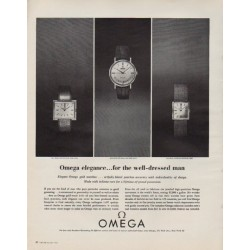 "1963 Omega Watches Ad ""Omega elegance"""