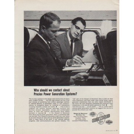 "1963 Stewart & Stevenson Ad ""Who should we contact"""