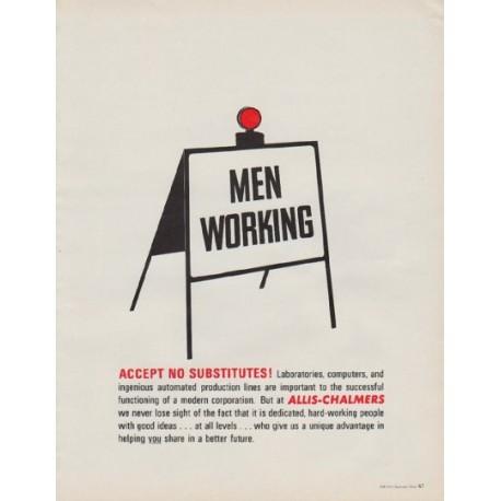 """1963 Allis-Chalmers Ad """"Men Working"""""""