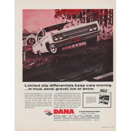 "1963 DANA Corporation Ad ""Limited slip differentials"""