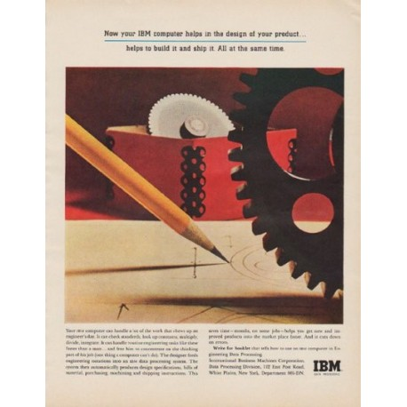 "1963 IBM Ad ""design of your product"""