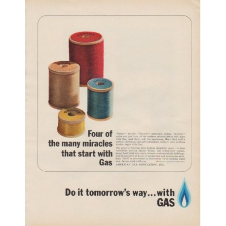 "1963 American Gas Association Ad ""Four of the many miracles"""