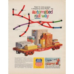 "1963 Union Pacific Railroad Ad ""automated rail way"""