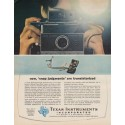 "1963 Texas Instruments Incorporated Ad ""snap judgments"""