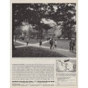 """1963 American Electric Power System Ad """"Typical campus scene"""""""