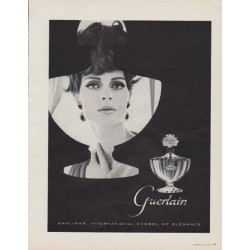 "1963 Guerlain Shalimar Ad ""Shalimar ... International Symbol Of Elegance"""