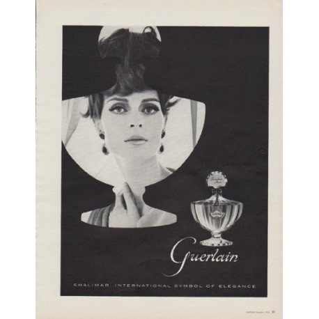 "1963 Guerlain Shalimar Ad ""Shalimar ... International Symbol Of Elegance"""