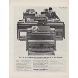 """1963 Hammond Organ Ad """"This is all the shopping"""""""