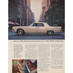 "1963 Lincoln Continental Ad ""Model Year 1964"""