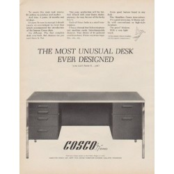"""1963 Hamilton Cosco Ad """"The Most Unusual Desk"""""""