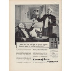 "1938 Martini & Rossi Vermouth Ad ""Colonel"""