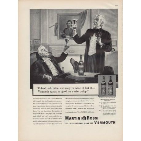 """1938 Martini & Rossi Vermouth Ad """"Colonel"""""""